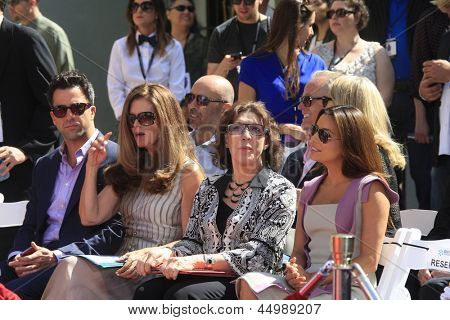 LOS ANGELES - APR 27:  Troy Garity Maria Shriver, Lily Tomlin and Eva Longoria at the Jane Fonda Hand and FootPrint Ceremony at the Chinese Theater on April 27, 2013 in Los Angeles, CA