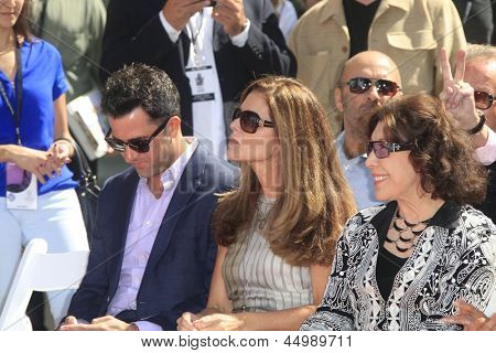 LOS ANGELES - APR 27:  Troy Garity, Maria Shriver and Lily Tomlin at the Jane Fonda Hand and FootPrint Ceremony at the Chinese Theater on April 26, 2013 in Los Angeles, CA
