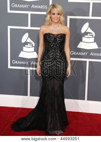 LOS ANGELES - FEB 10:  Carrie Underwood arrives to the Grammy Awards 2013  on February 10, 2013 in Los Angeles, CA.