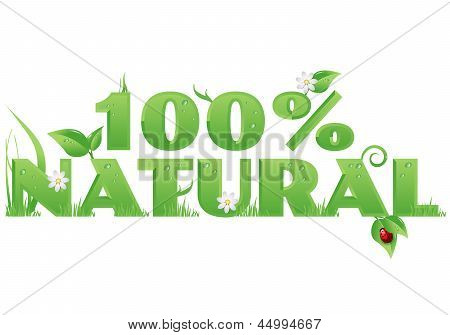 Natural 100% Text