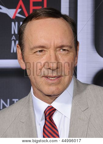 LOS ANGELES - APR 24:  Kevin Spacey arrives to the AFI Night At The Movies 2013  on April 24, 2013 in Hollywood, CA