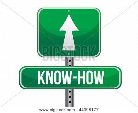 Know How Road Sign Illustration Design