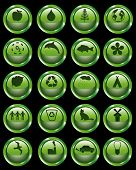 Vector web buttons with ecology and environmental theme poster