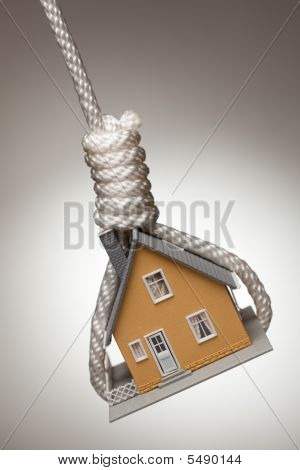 House Tied Up And Hanging In Noose