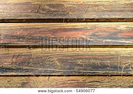 a background with rough red brown rustic planks poster