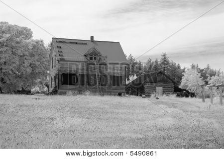 Farmhouse In Infrared
