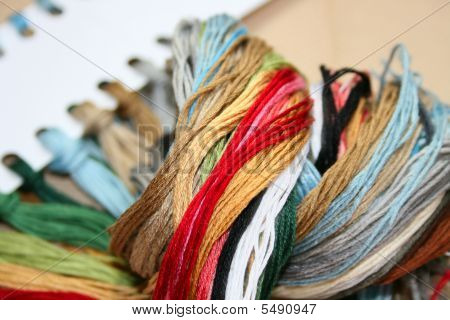 Colored Threads For Embroidery