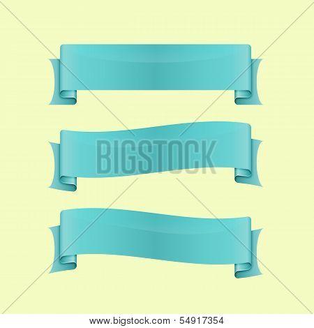 Set Of Blue Sleek Web Ribbon