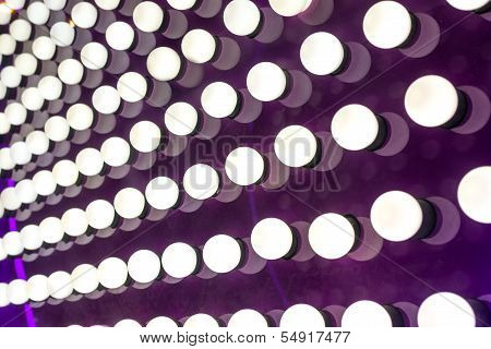 White Lights On Purple Background
