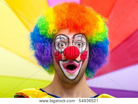 Funny colorful clown