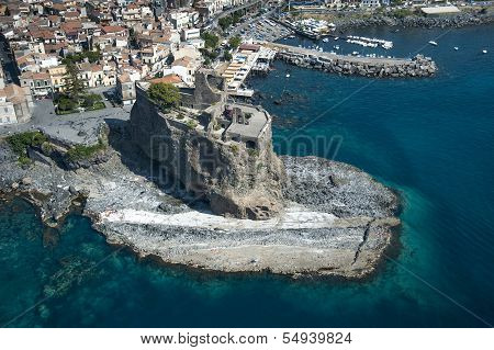 acicastello castle from above