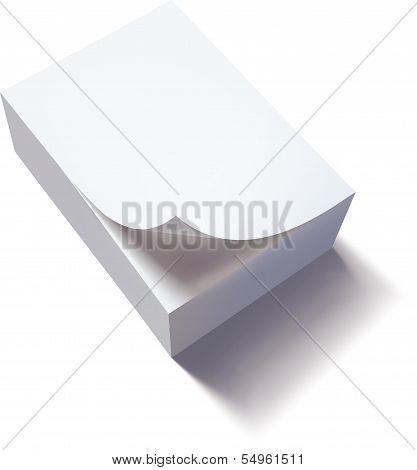 stack of papers with curl. Vector illustration
