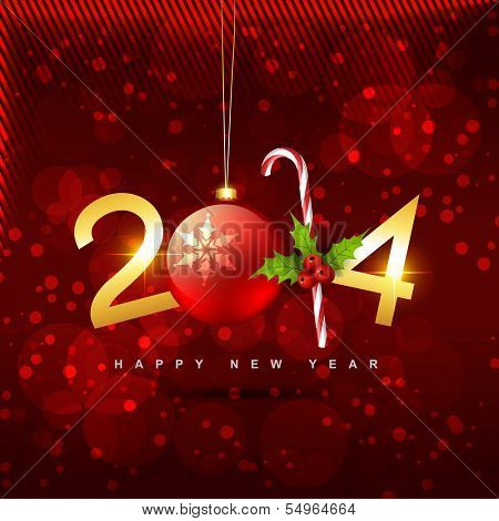 beautiful shiny golden creative happy new year vector design