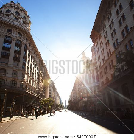 Beautiful Building In The Heart Of Buenos Aires, Argentina