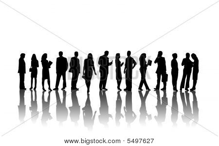 Business People Into White Environment