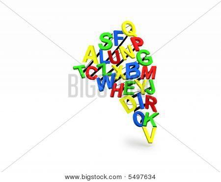 Colorful Alphabetic Tornado