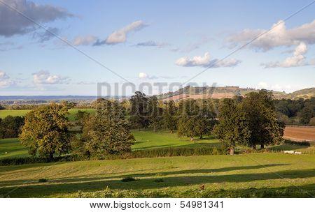 Rural England At Sunset