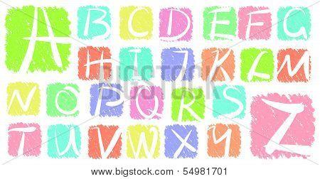 Grunge vector alphabet