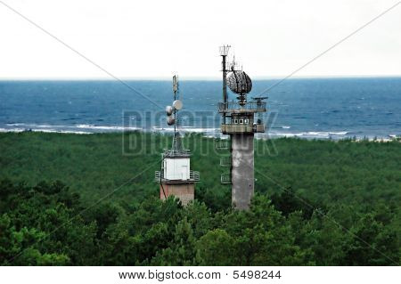 Radar Tower Near The Sea