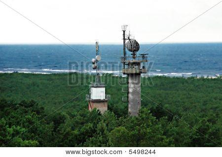 Radar Tower Near The Sea