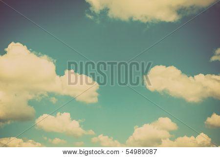 Blue sky vintage and natural background