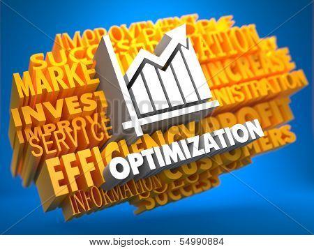Optimization. Wordcloud Concept.