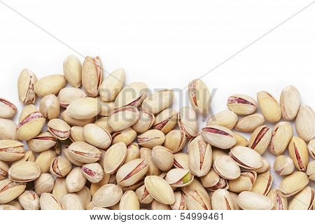 Border From Roasted Salty Pistachios Nuts