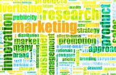 Marketing Terminology as a Abstract Background Text Cloud poster