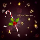 stylish christmas candy cane vector background poster
