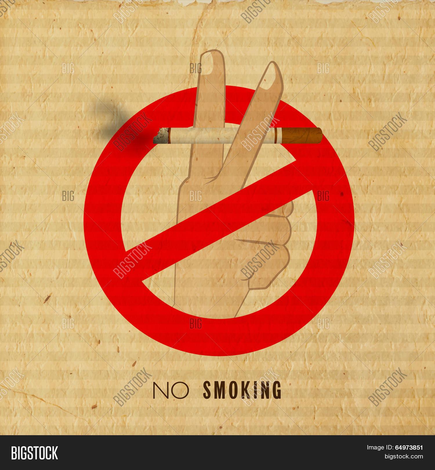 Vintage Anti Smoking Vector Photo Free Trial Bigstock