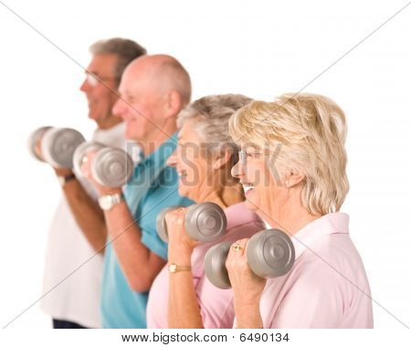Senior Senioren Aufhebung Gewichte