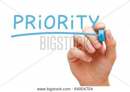 Priority Blue Marker