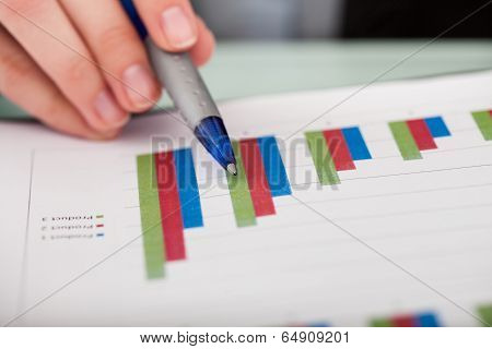 Close-up Of Financial Graph
