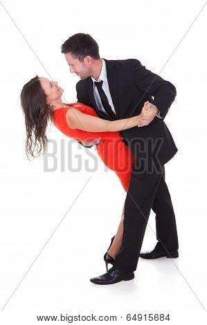 Dancing Young Couple
