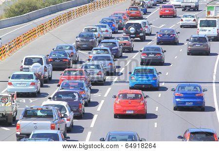 Melbourne traffic jam