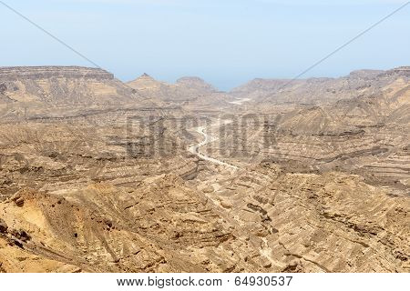 Canyon, Dhofar Region (oman)