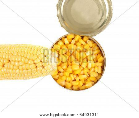 Composition of cop and canned corn.