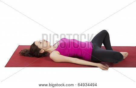 Woman In Butterfly Pose