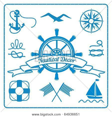 nautical badges and decor