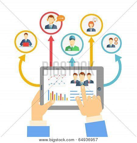 Remote business management concept