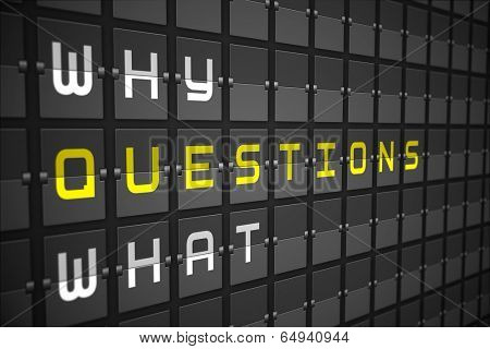Questions on digitally generated black mechanical board poster
