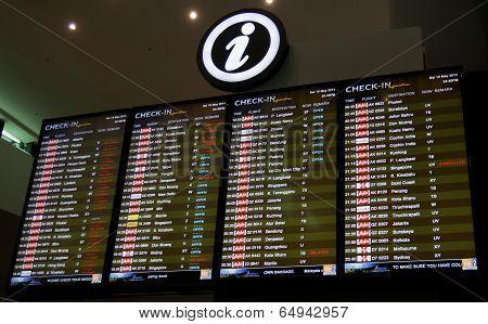 Flight departure schedule