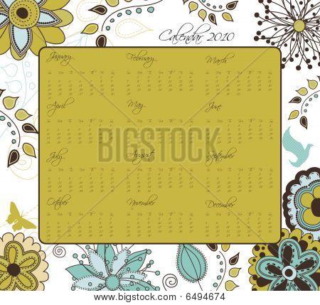 Garden Inspired Calendar For 2010