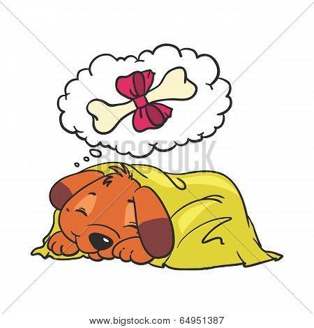 Cartoon Vector Comic Illustration of cute Dog poster