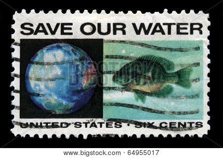 Anti-pollution Us Postage Stamp
