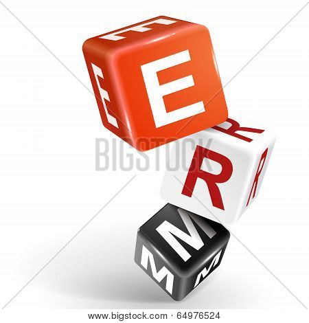 3D Dice Illustration With Word Erm