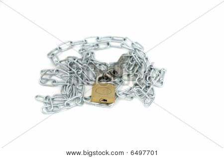 Chain With Lock And Key