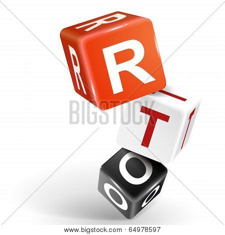 3D Dice Illustration With Word Rto