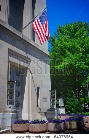 Flag On Justice Department