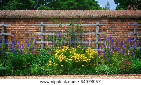 Flower Garden Wall With Trellis